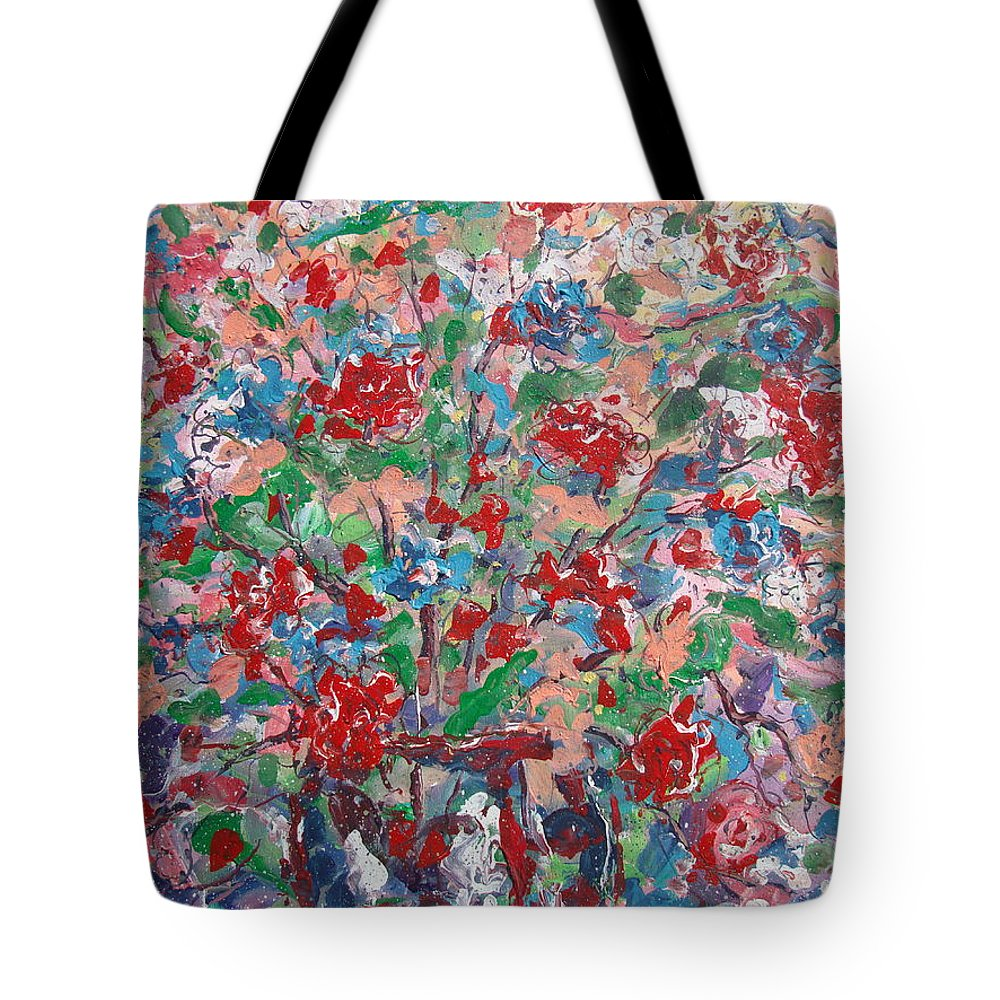 Painting Tote Bag featuring the painting Full Bloom. by Leonard Holland