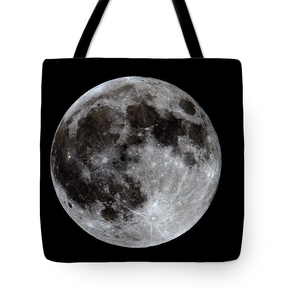 Moon Tote Bag featuring the photograph Full Moon by Bob Kemp