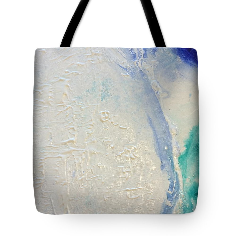 Moon Tote Bag featuring the painting Full Moon by Nipper Suntrapak