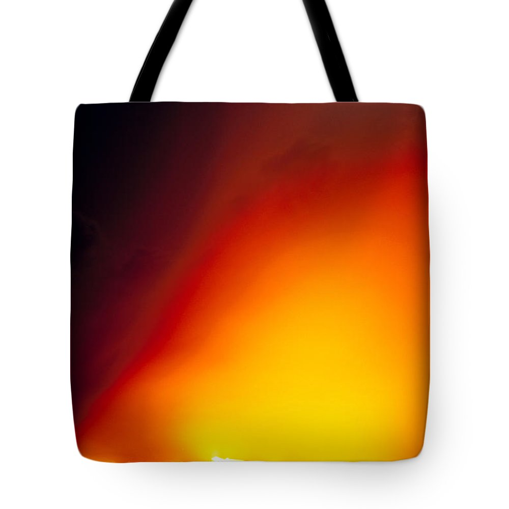 A'a Tote Bag featuring the photograph Full Moon Over Lava by Peter French - Printscapes