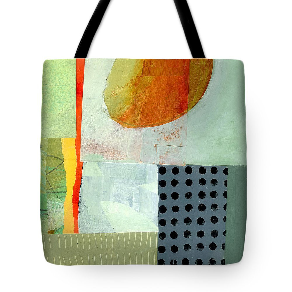 Abstract Art Tote Bag featuring the painting Full Moon This Time by Jane Davies