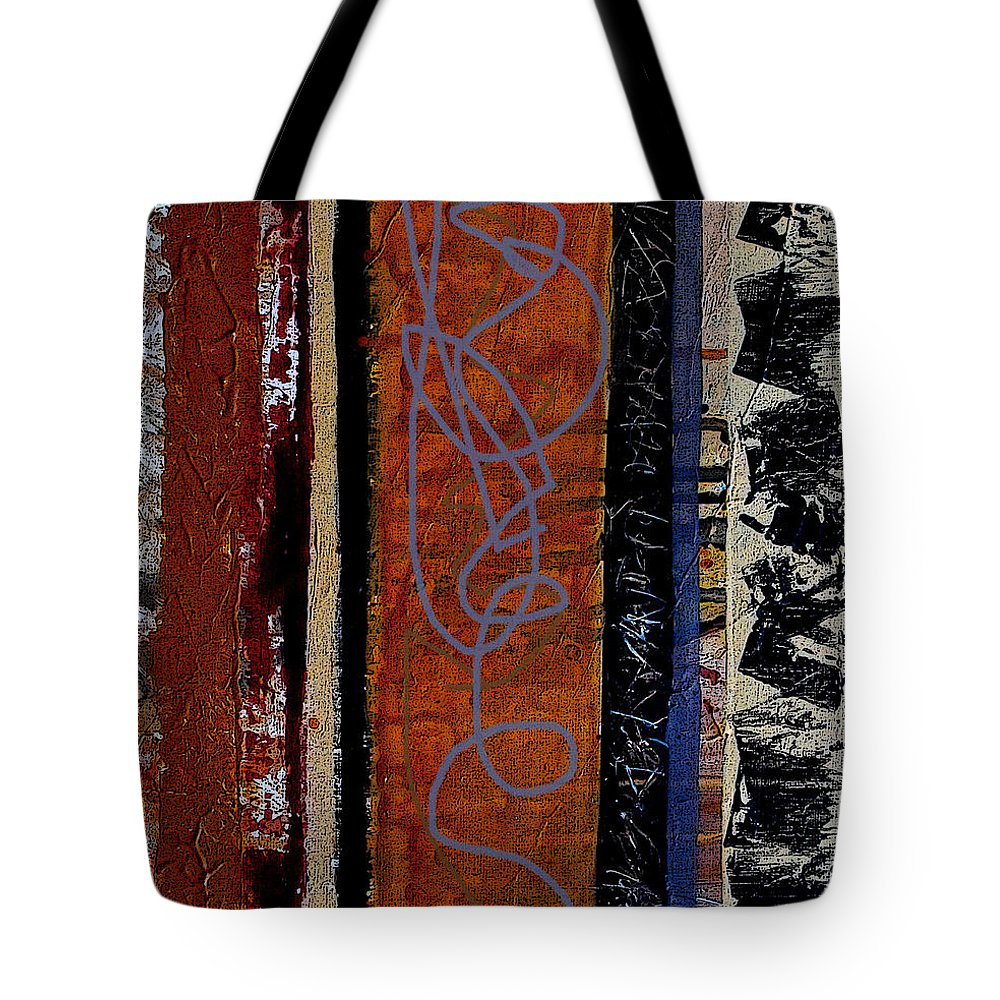 Abstract Tote Bag featuring the mixed media Full Of Surprises by Ruth Palmer