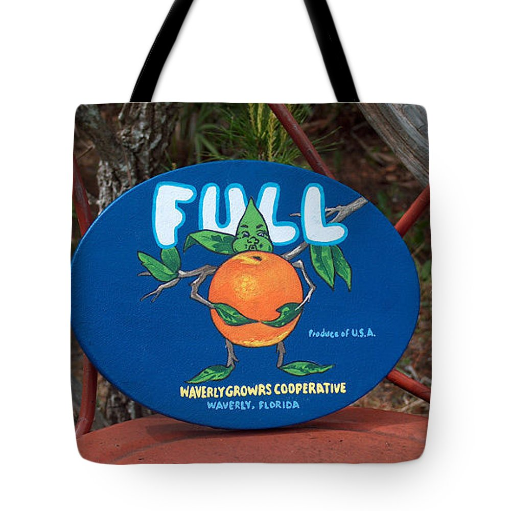 Full Oranges Tote Bag featuring the painting Full by Racquel Morgan