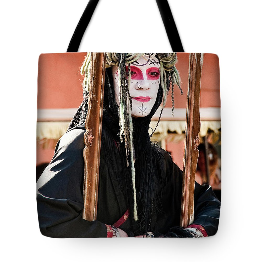 Photography Tote Bag featuring the photograph Fully Framed Mime by Kathleen K Parker