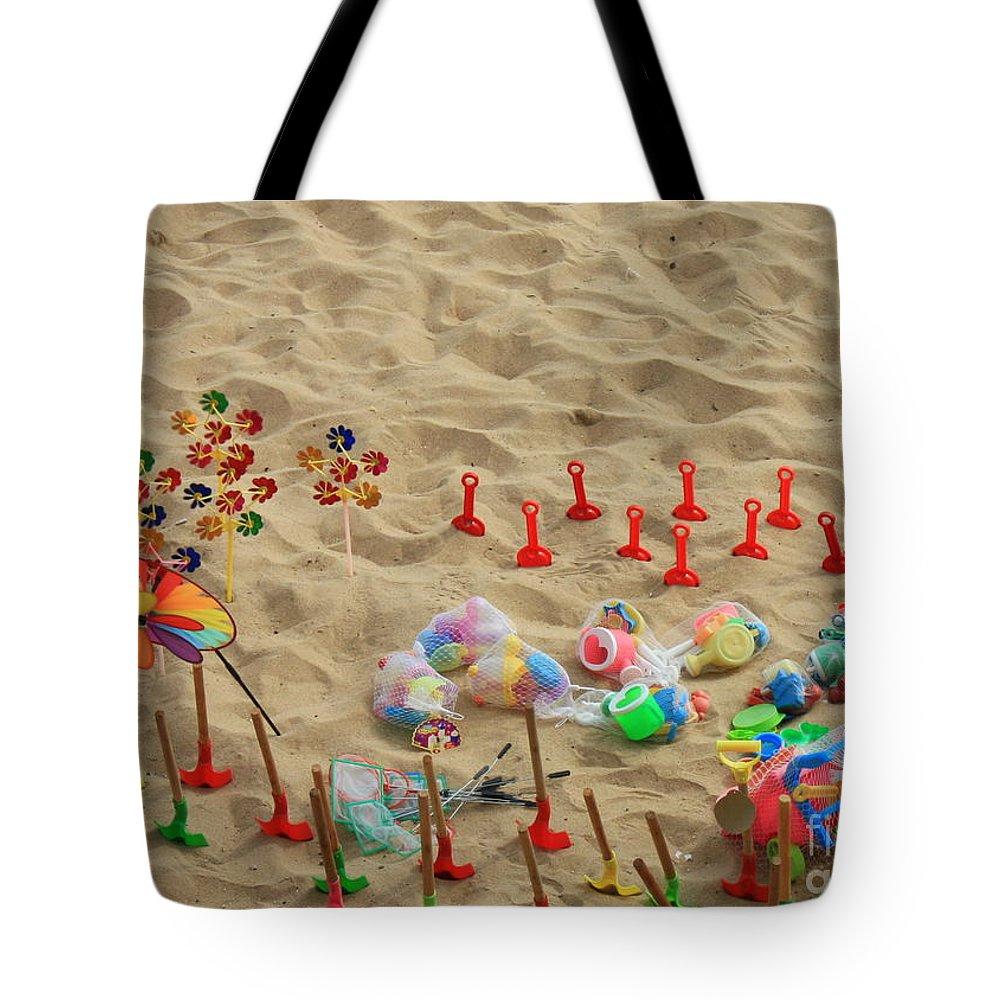 Beach Fun Tote Bag featuring the photograph Fun At The Beach by Carol Groenen