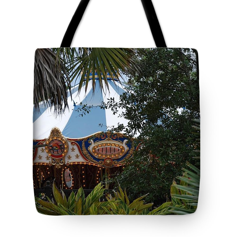 Architecture Tote Bag featuring the photograph Fun Thru The Trees by Rob Hans