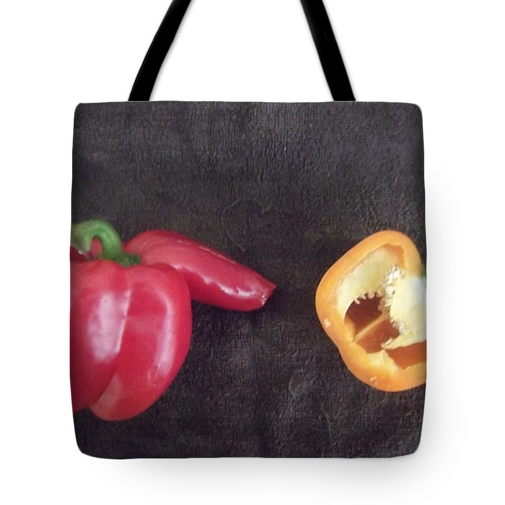 Fun Tote Bag featuring the photograph Fun With Vegetables by Laura Tolley Brown