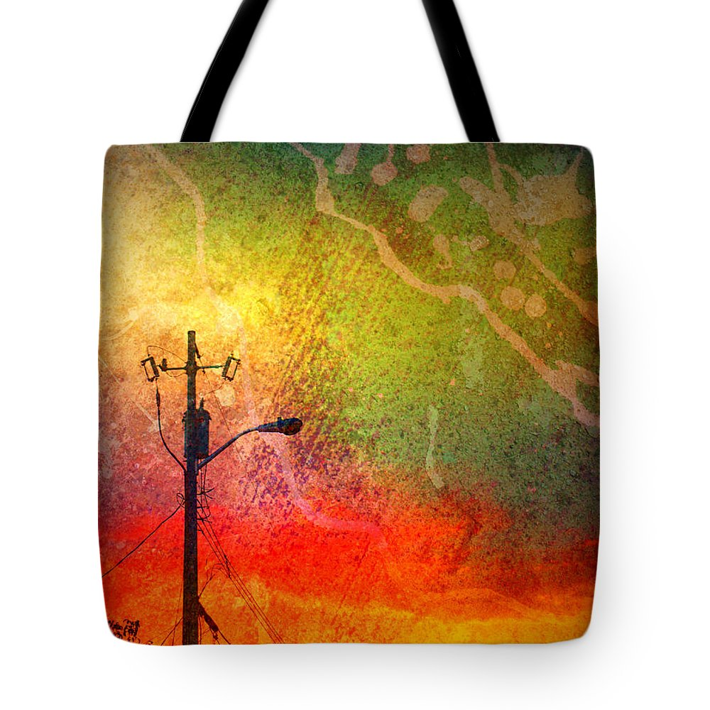 Paint Tote Bag featuring the photograph Funky Sunset by Tara Turner