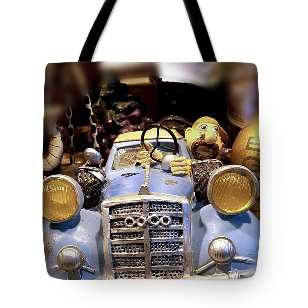 Funny Tote Bag featuring the photograph Funny Automobile by Eman Elmahdy