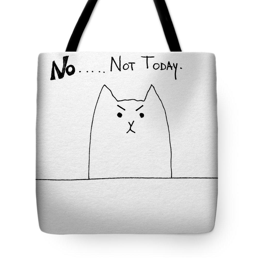bd4d6fcd3365 Funny Cute Slogan Doodle Cat Tote Bag