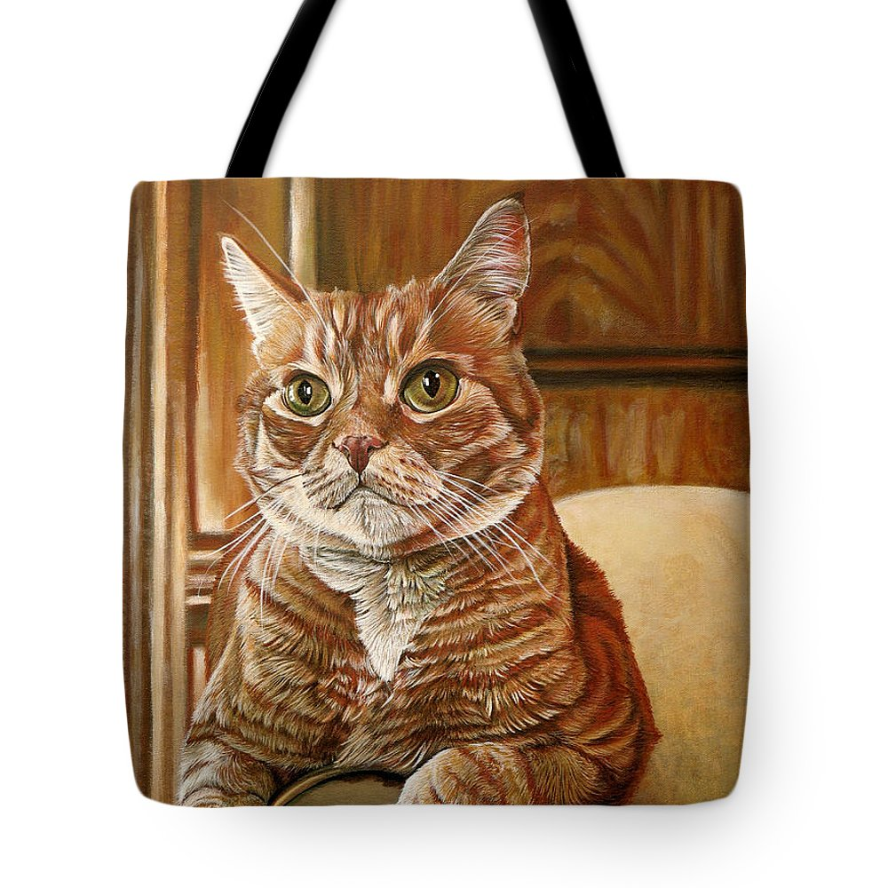 Cat Tote Bag featuring the painting Furby by Cara Bevan