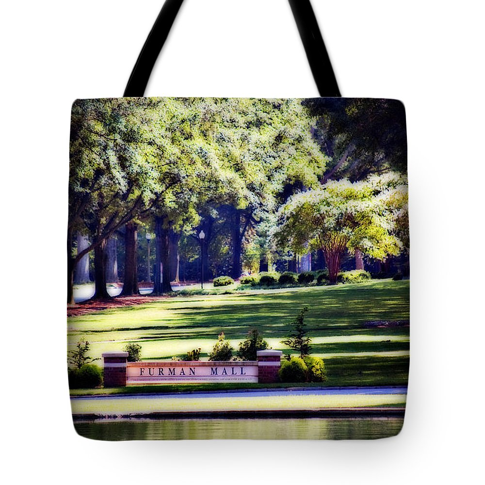 Furman University Tote Bag featuring the photograph Furman Mall by Gary Adkins
