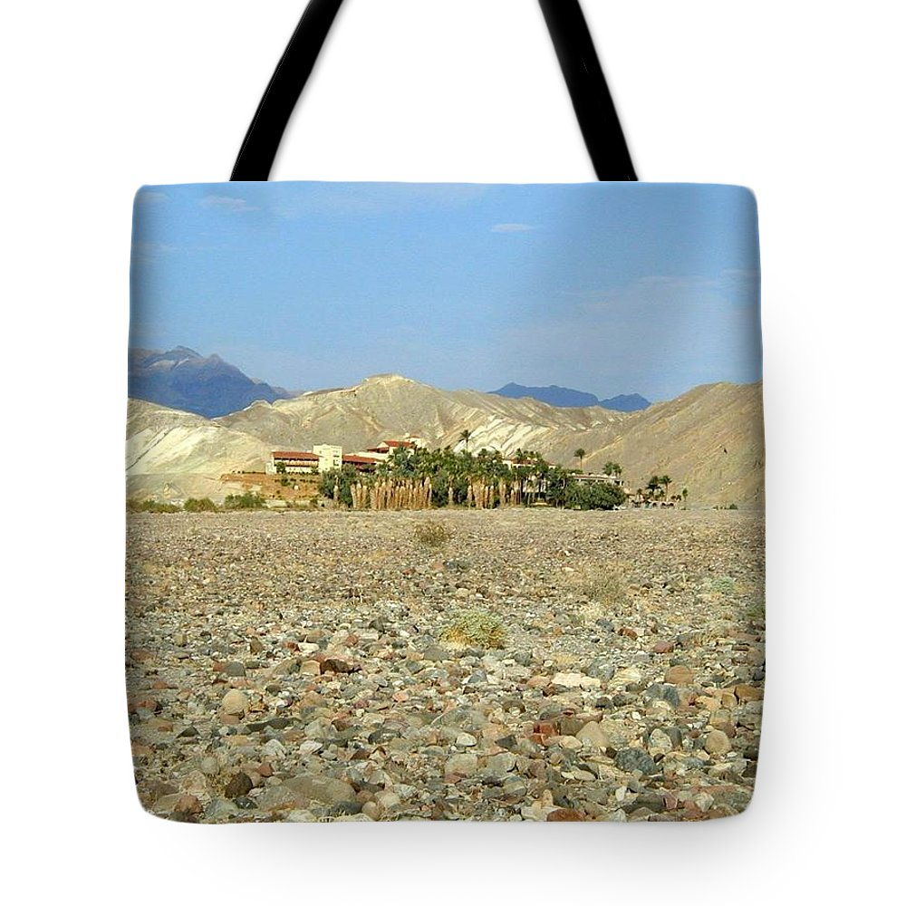 Death Valley Np Tote Bag featuring the photograph Furnace Creek Inn by Rich Bodane