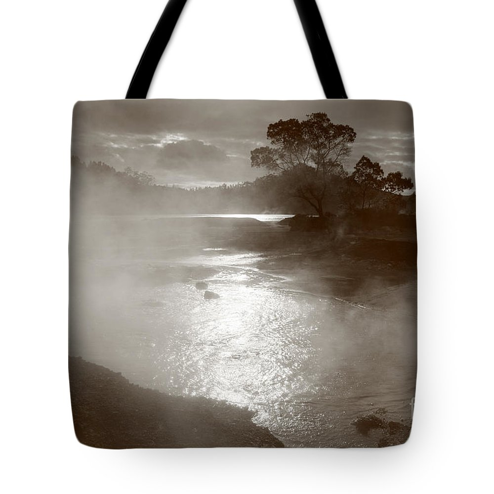Furnas Tote Bag featuring the photograph Furnas Hotsprings by Gaspar Avila