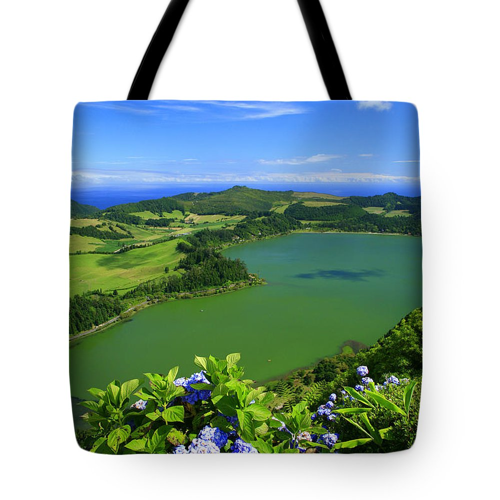 Azores Tote Bag featuring the photograph Furnas Lake by Gaspar Avila