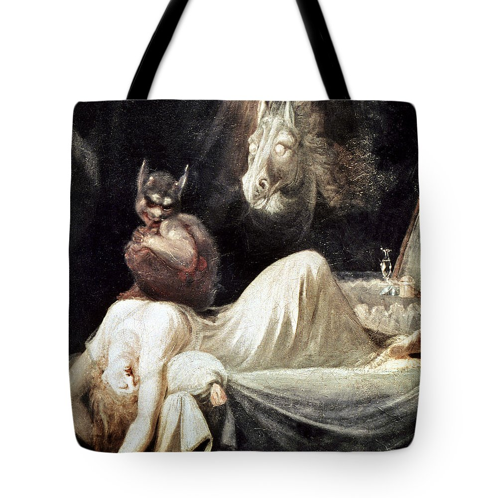 1781 Tote Bag featuring the photograph Fuseli: Nightmare, 1781 by Granger
