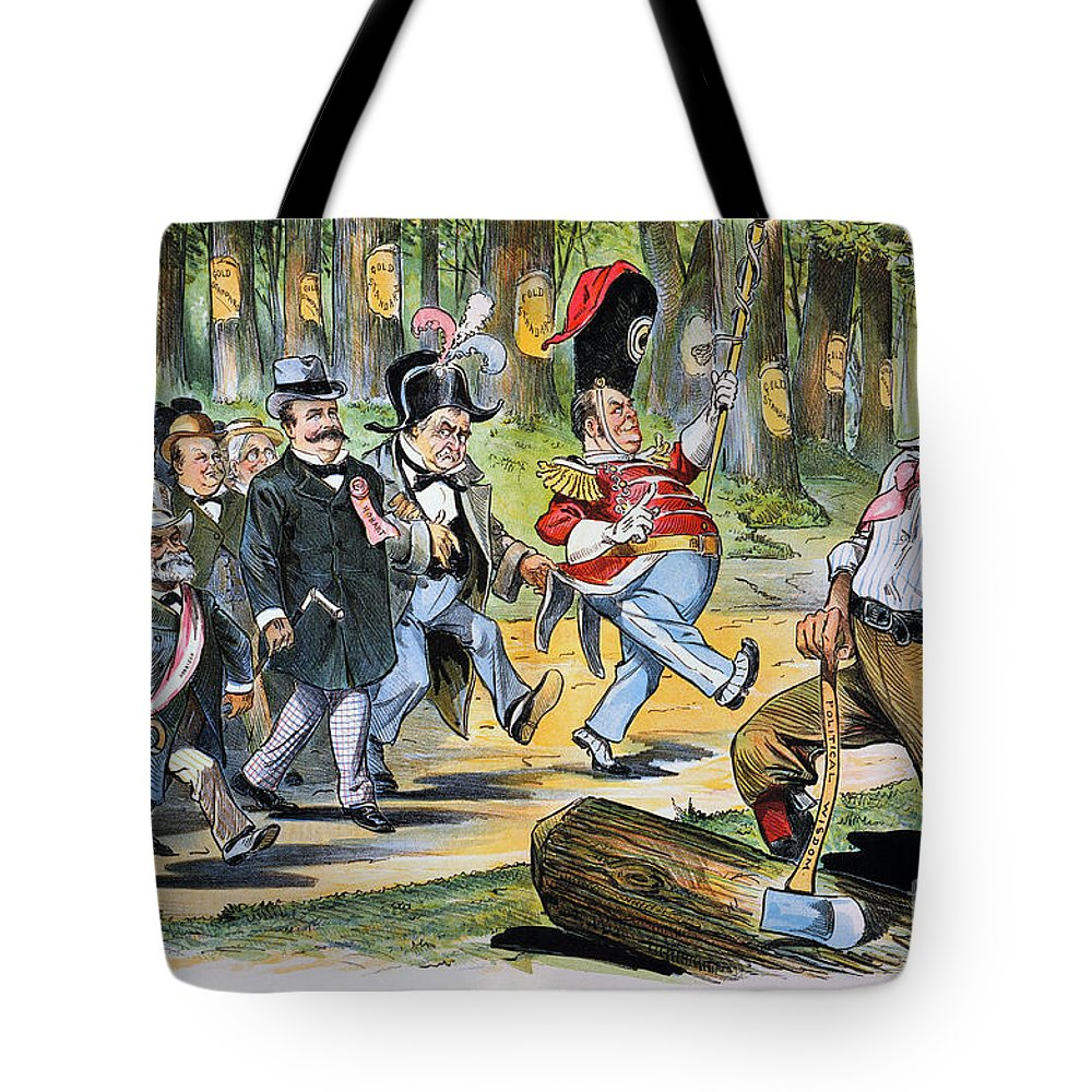 1896 Tote Bag featuring the photograph G. Cleveland Cartoon, 1896 by Granger