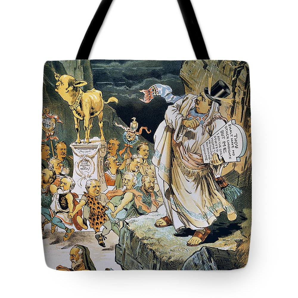 1892 Tote Bag featuring the photograph G. Cleveland Cartoon by Granger