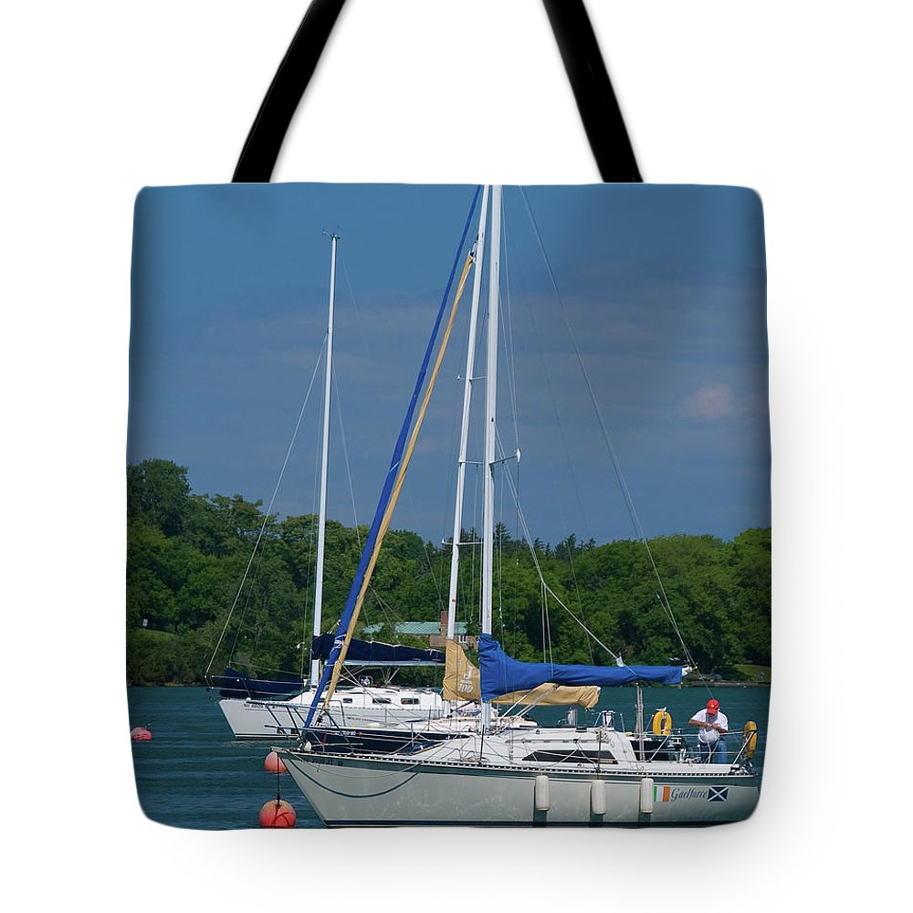 Boat Tote Bag featuring the photograph Gaelforce 10916 by Guy Whiteley