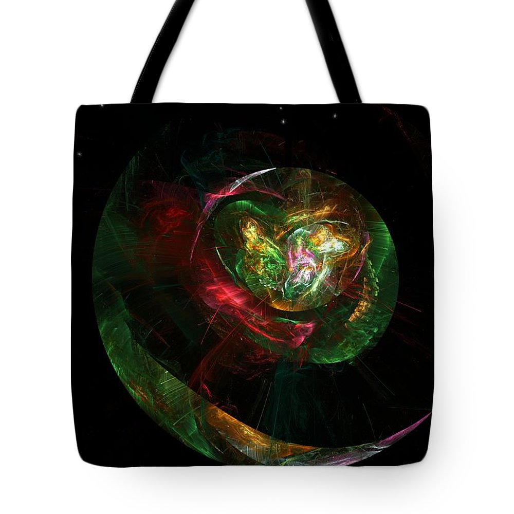 Fantasy Tote Bag featuring the digital art Gaia Revealed by David Lane