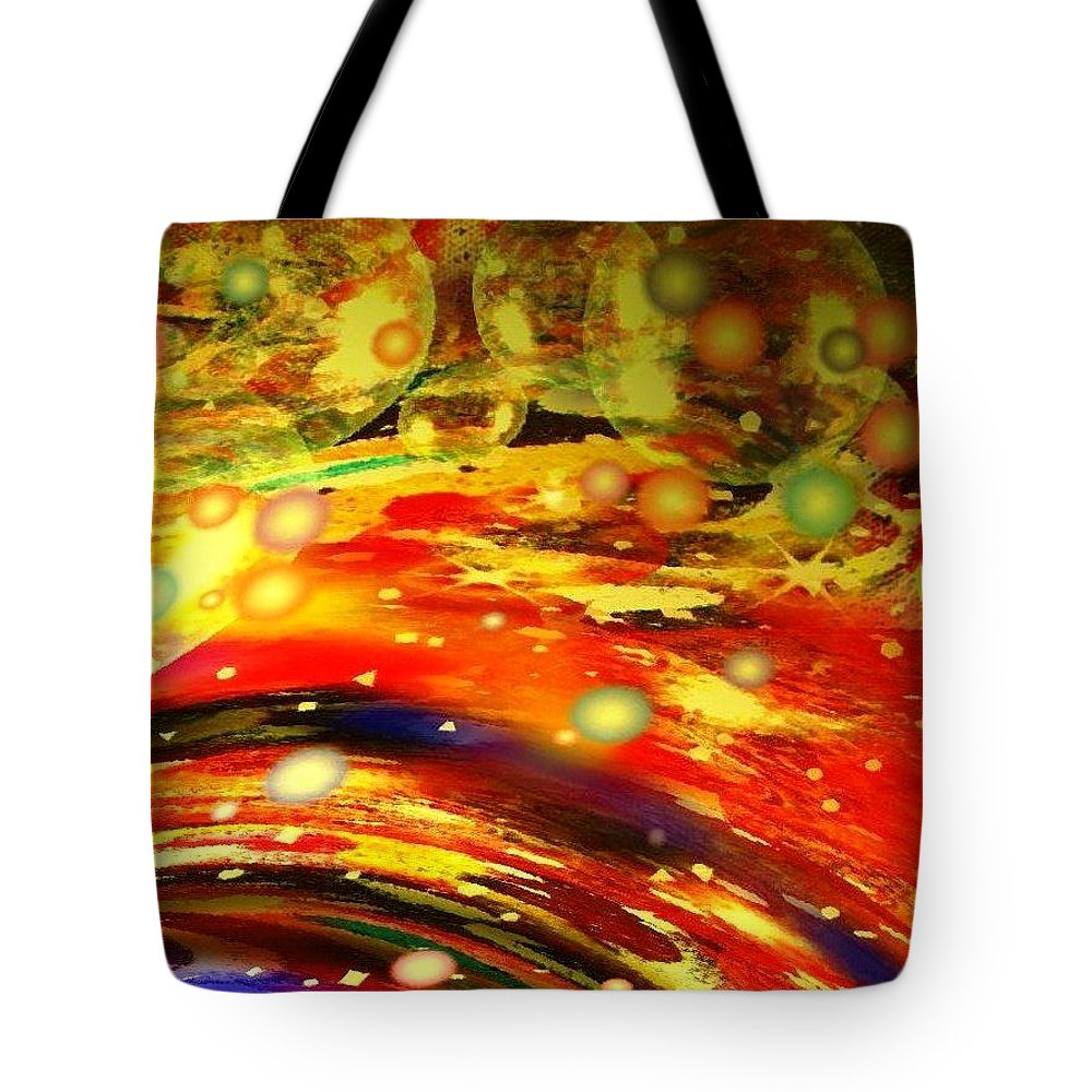 Galaxy Tote Bag featuring the digital art Galaxy by Natalie Holland