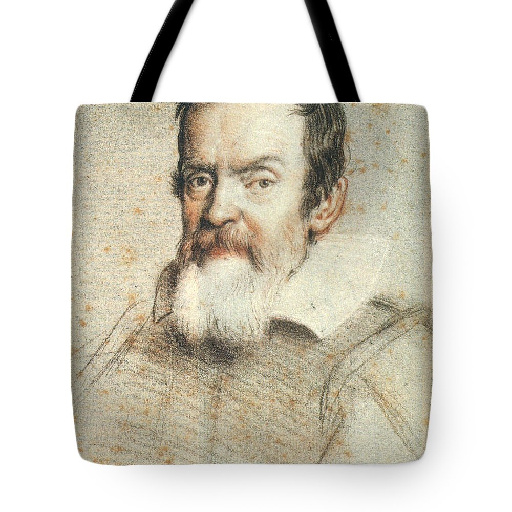 1624 Tote Bag featuring the photograph Galileo Galilei by Granger