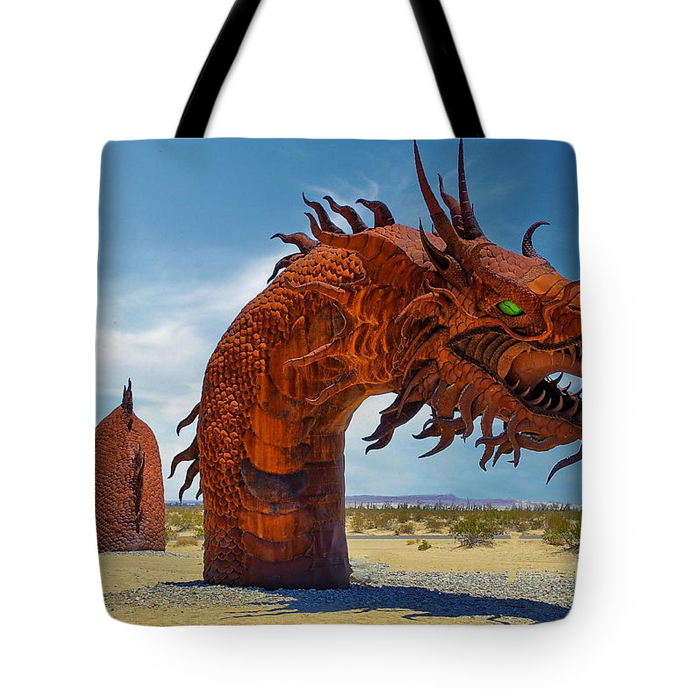 Serpent Tote Bag featuring the photograph Galleta Meadow Serpent by Alex Morales