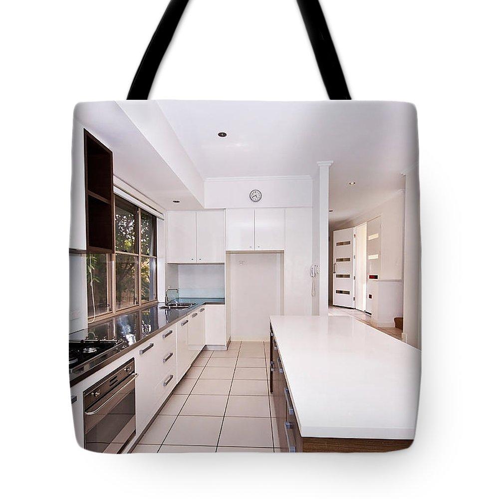 Kitchen Tote Bag featuring the photograph Galley Kitchen by Darren Burton