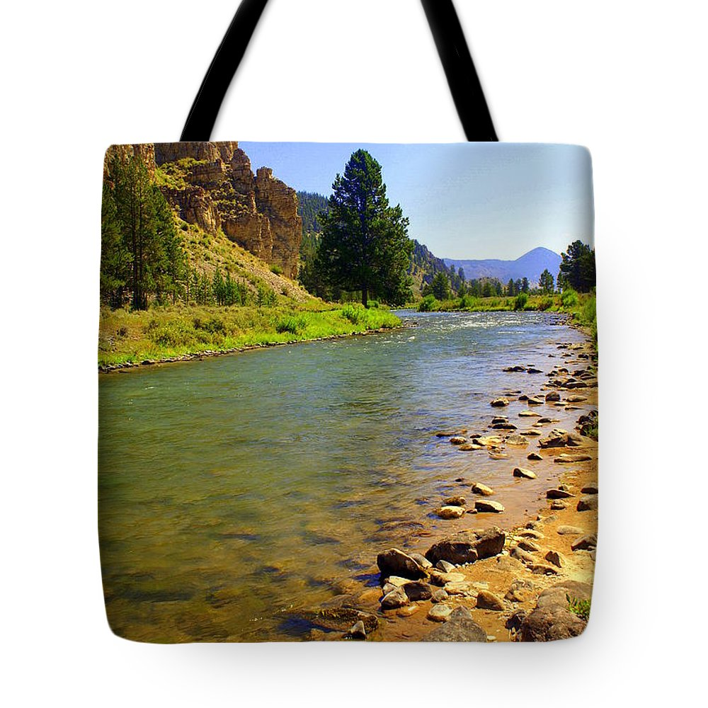 Gallitan River Tote Bag featuring the photograph Gallitan River 1 by Marty Koch