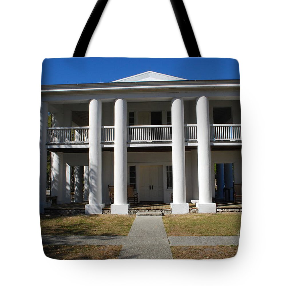 Mansion Tote Bag featuring the photograph Gamble Mansion Parrish Florida by Gary Wonning