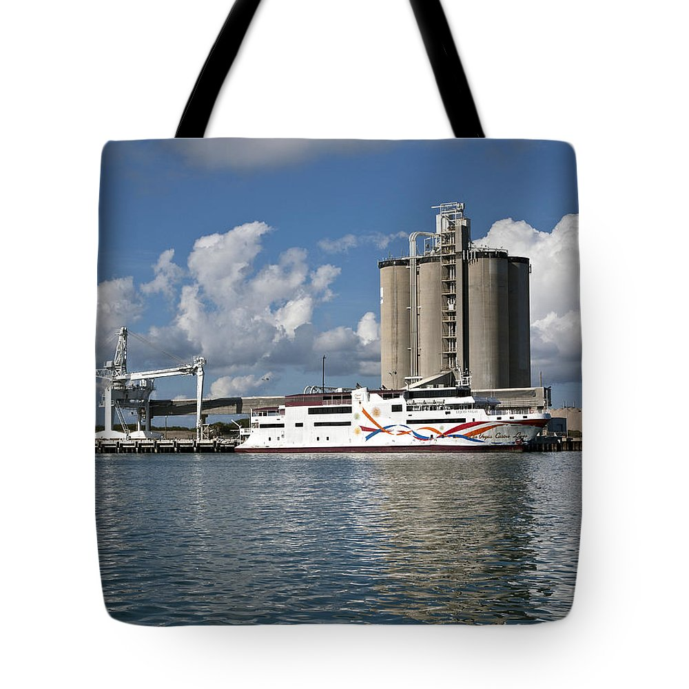 Gamble Tote Bag featuring the photograph Gambling Ship Liquid Vegas In Florida by Allan Hughes