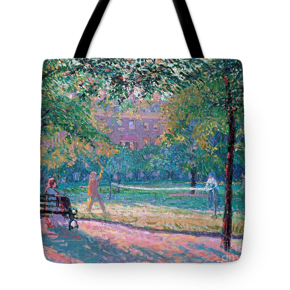 Park Bench Tote Bags