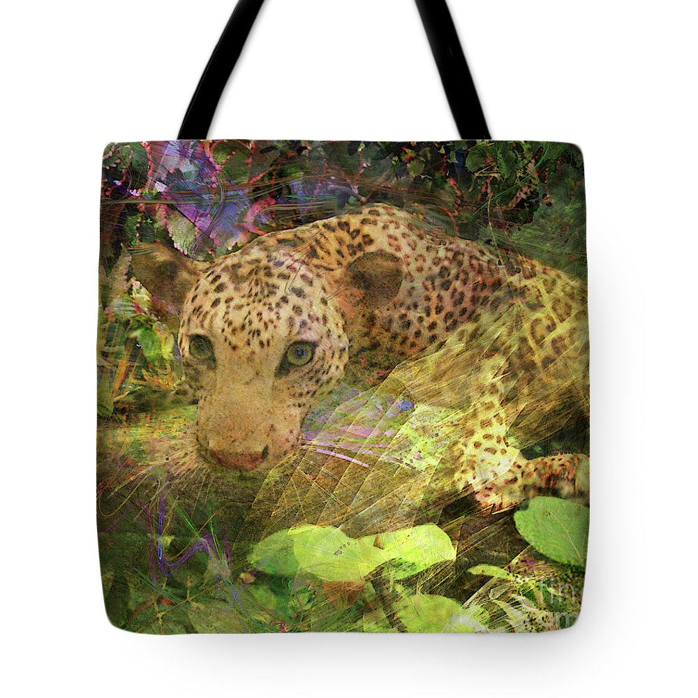 Game Spotting Tote Bag featuring the digital art Game Spotting by John Beck