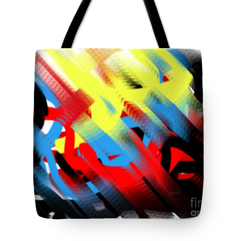 Abstract Tote Bag featuring the painting Games We Play by Frances Ku