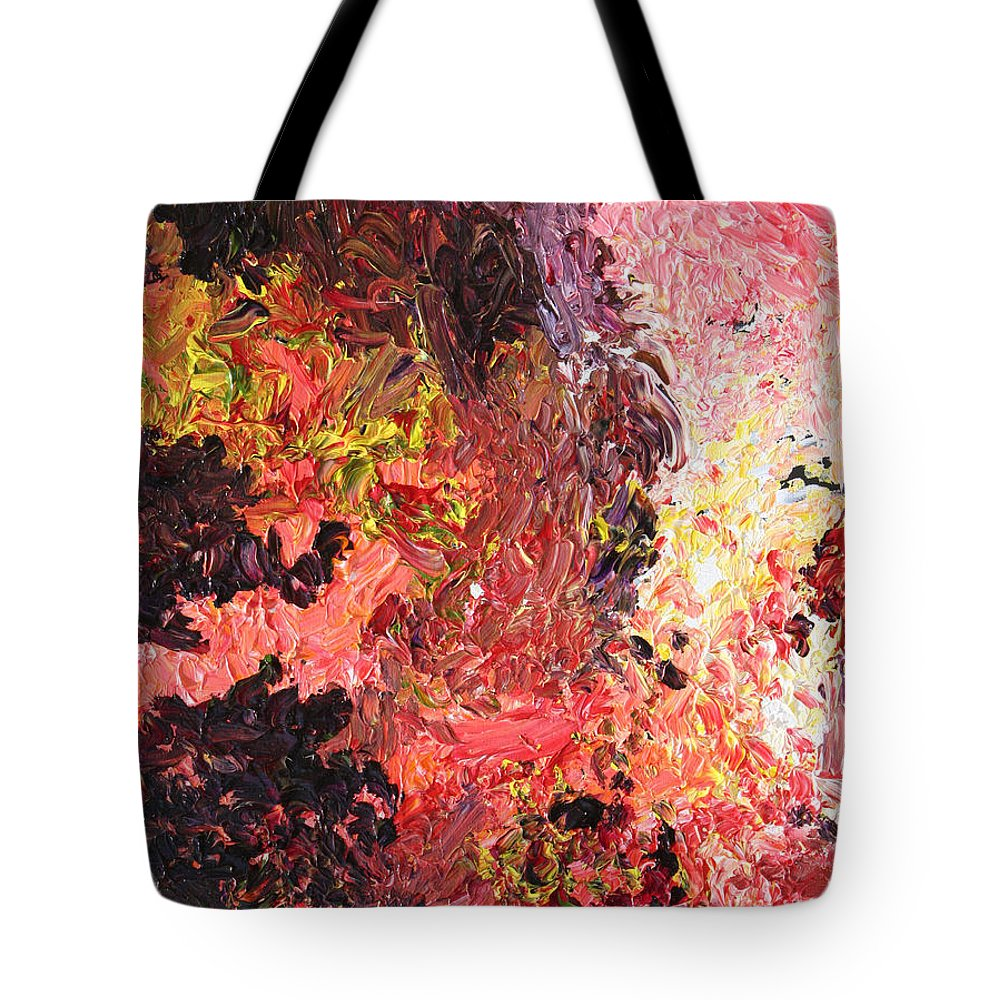 Fusionart Tote Bag featuring the painting Ganesh In The Garden by Ralph White