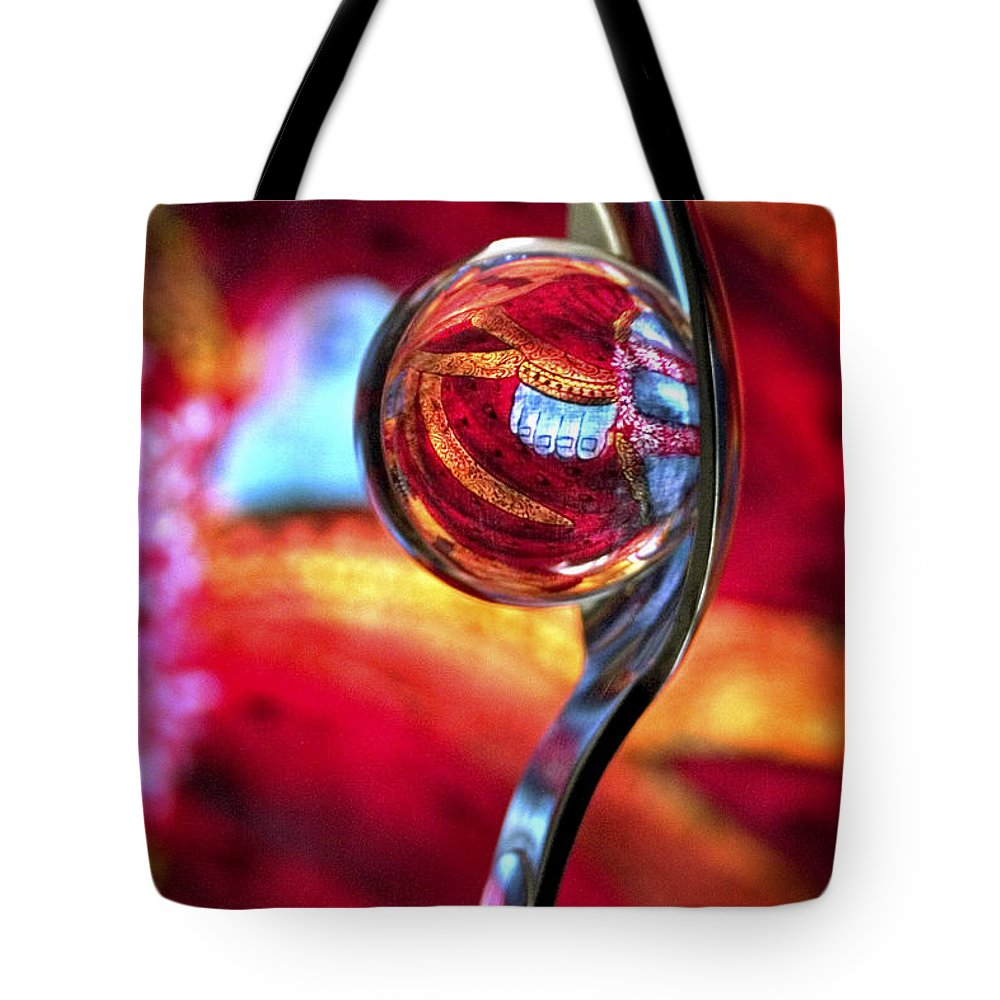 Ball Tote Bag featuring the photograph Ganesh Spoon by Skip Hunt