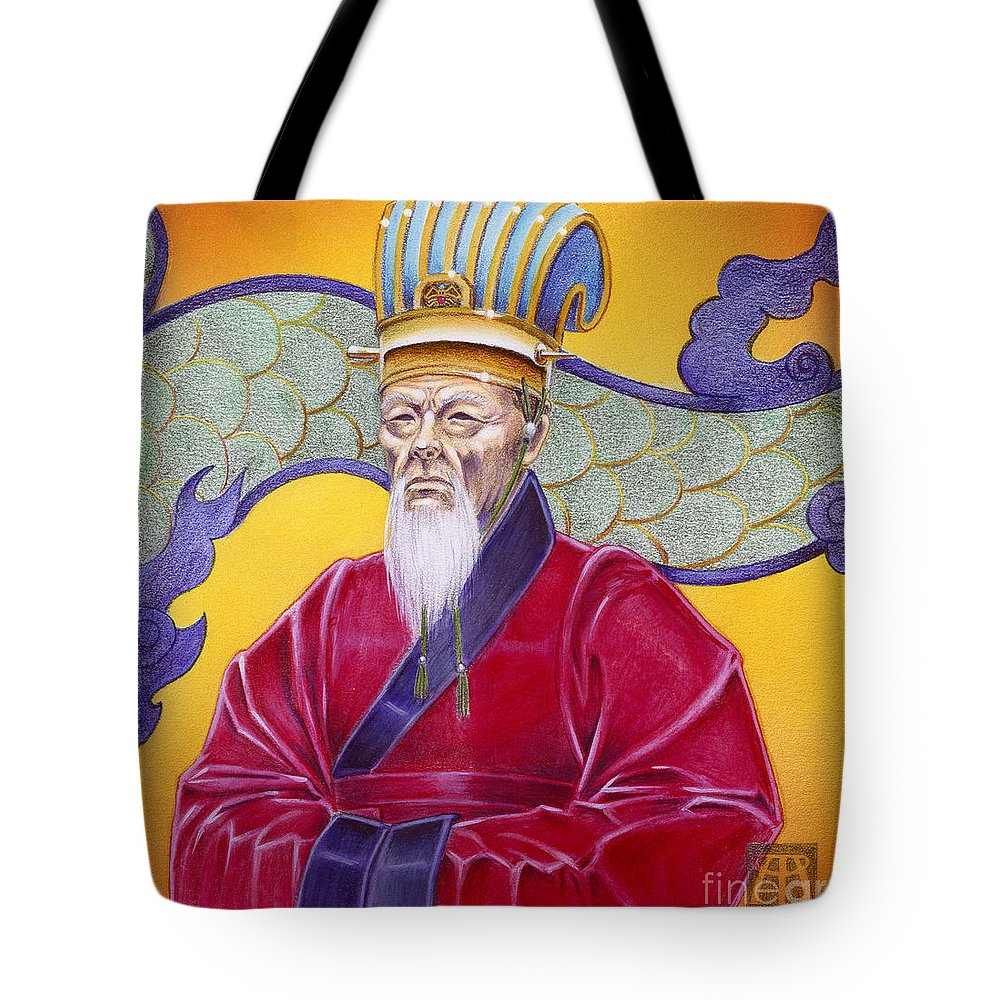 Oriental Tote Bag featuring the painting Gao Zhang by Melissa A Benson