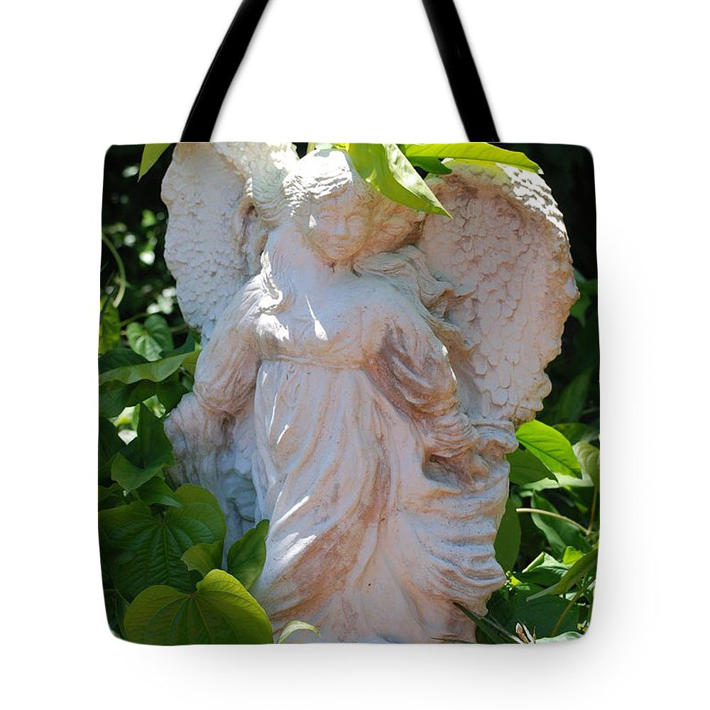 Angels Tote Bag featuring the photograph Garden Angel by Rob Hans