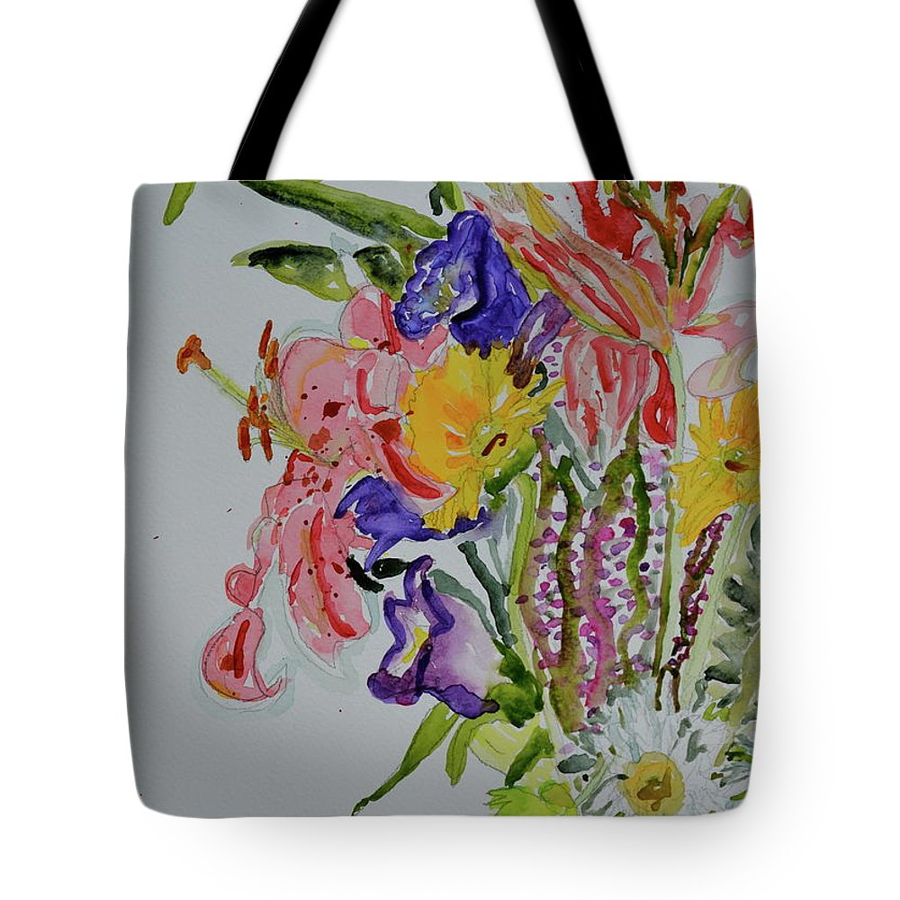 Flowers Tote Bag featuring the painting Garden Bouquet by Beverley Harper Tinsley