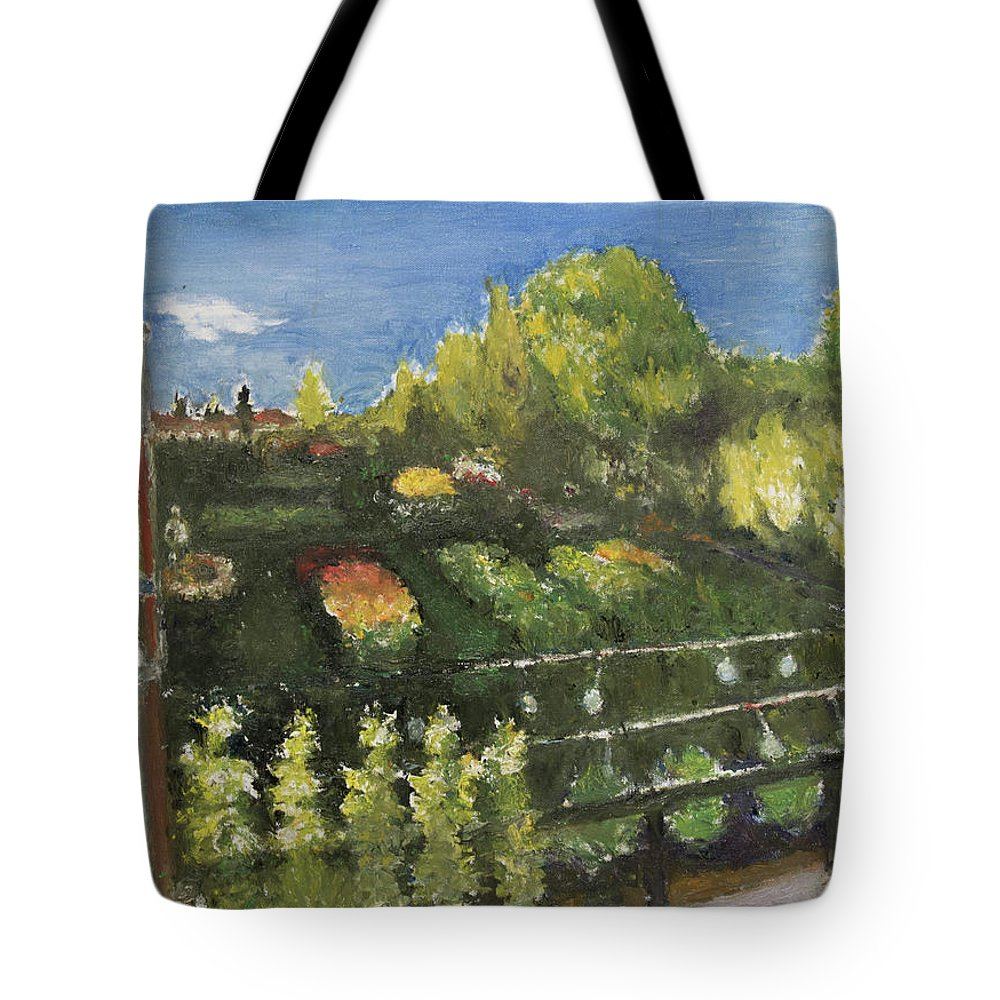 Garden Tote Bag featuring the painting Garden by Craig Newland