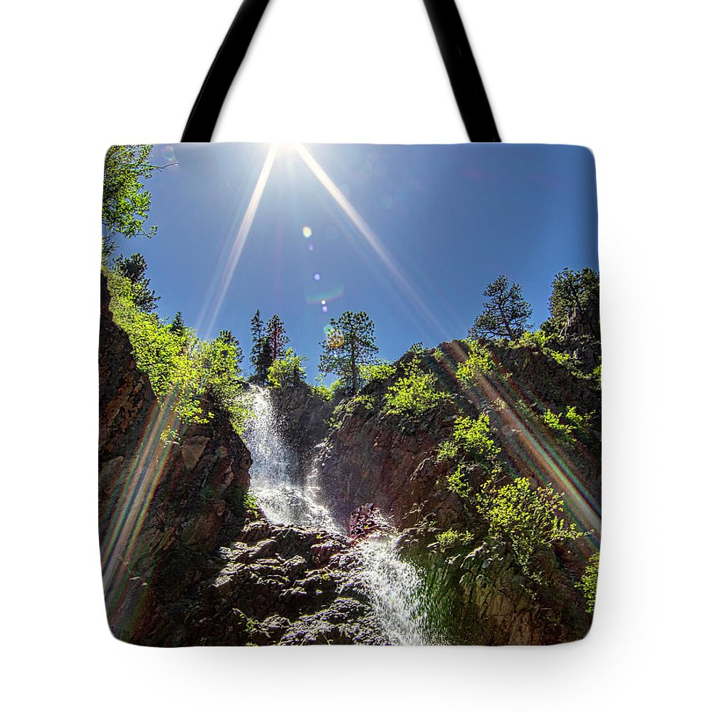 Sunshine Tote Bag featuring the photograph Garden Creek Falls by Sam Sherman