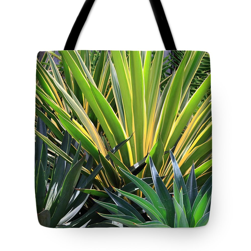 Flora Tote Bag featuring the photograph Garden Designs by Robert McKinstry