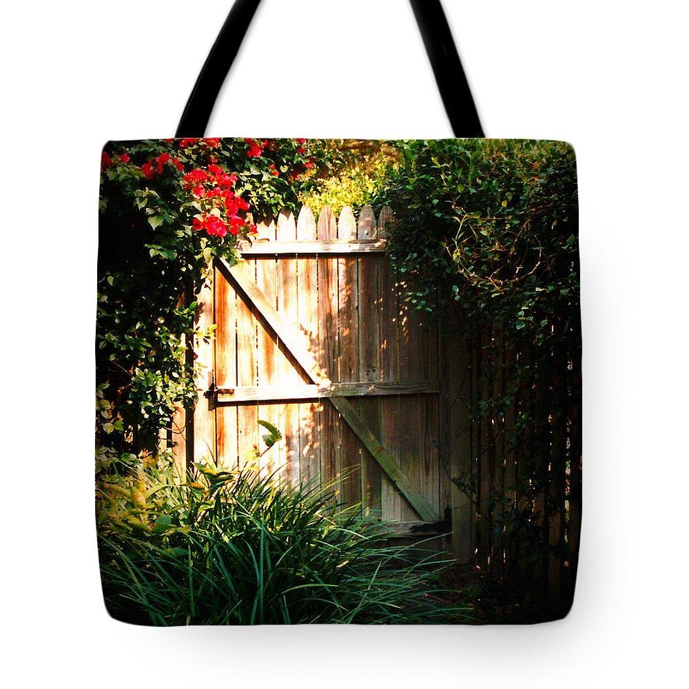 Garden Gate Tote Bag featuring the photograph Garden Gate by Carol Groenen