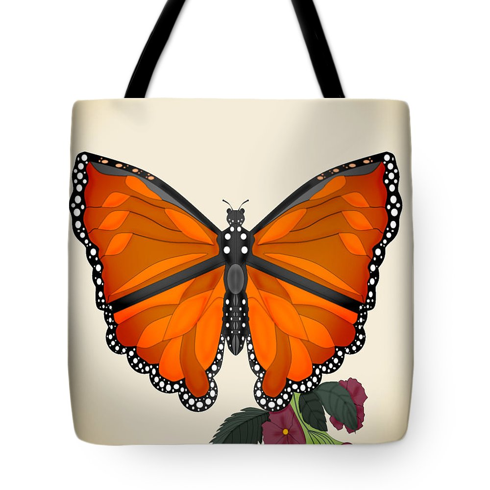 Butterfly Tote Bag featuring the painting Garden Jewelry by Anne Norskog