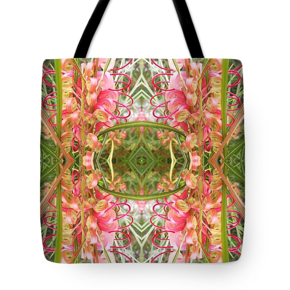 Abstract Tote Bag featuring the photograph Garden Mandala by Rick Frausto