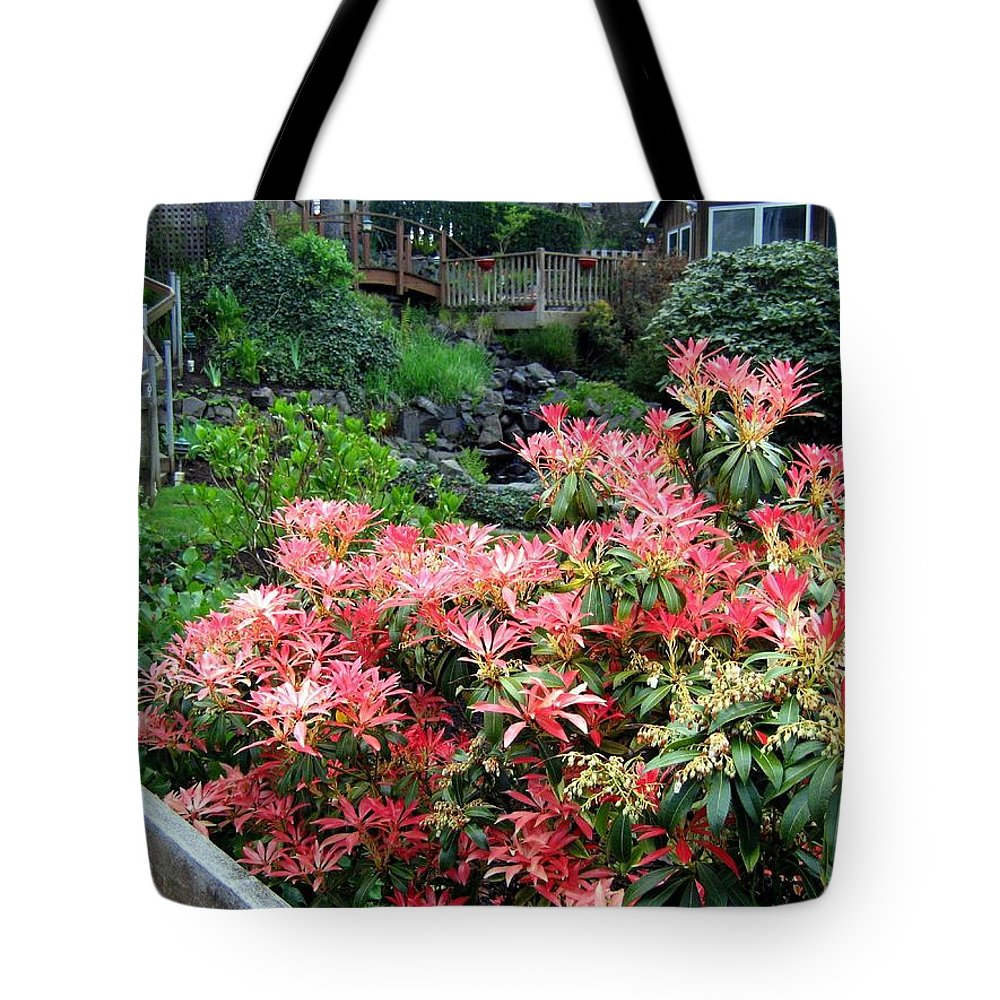 Houses Tote Bag featuring the photograph Garden Oasis by Will Borden