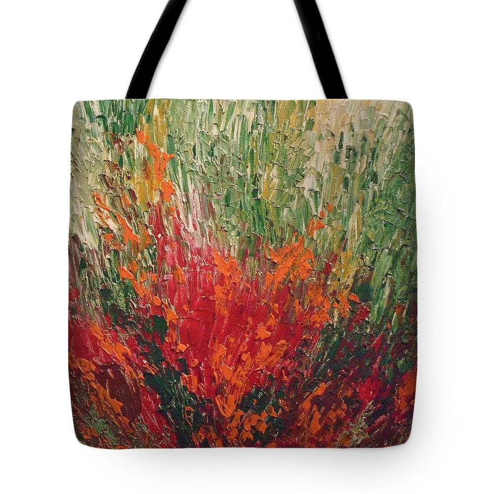 Garden Tote Bag featuring the painting Garden Of Memories 3 by Kusum Shukla