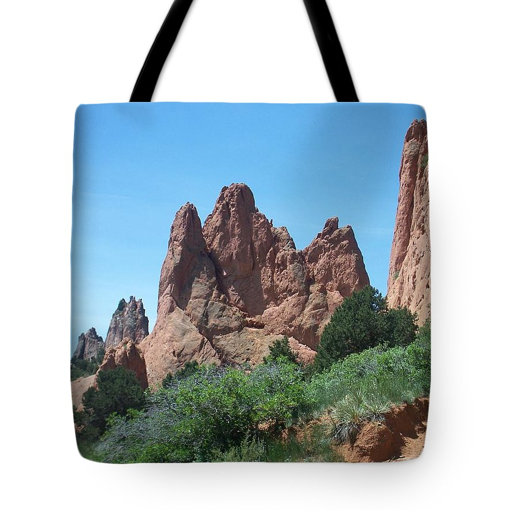 Colorado Tote Bag featuring the photograph Garden Of The Gods 2 by Anita Burgermeister