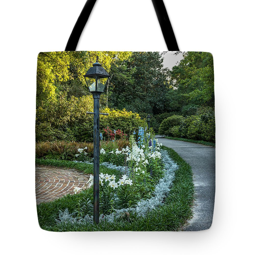 Garden Tote Bag featuring the photograph Garden Path #1 by Larry Palmer