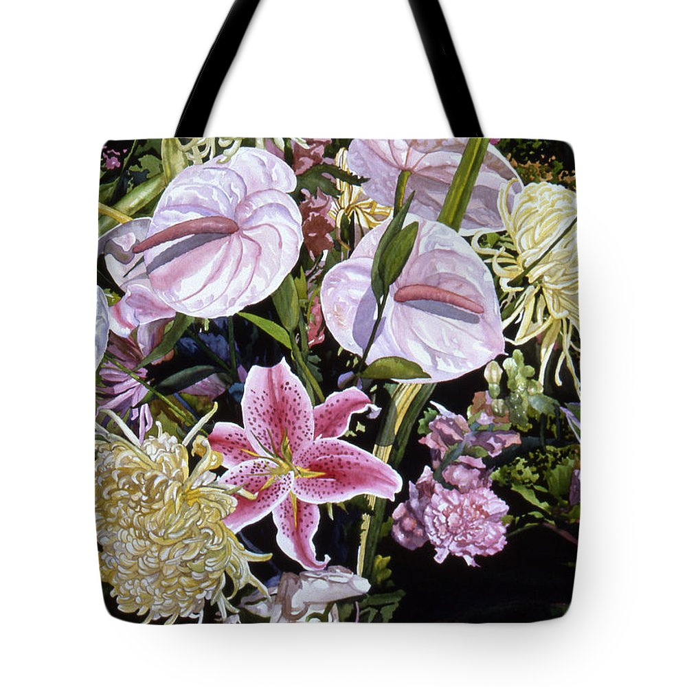Watercolor Tote Bag featuring the painting Garden Song by Teri Starkweather